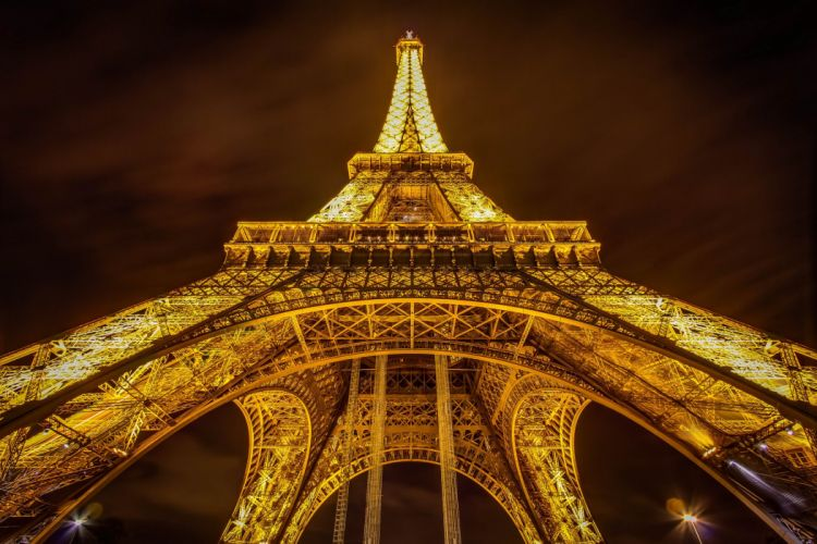France Eiffel Tower Paris Night Cities wallpaper