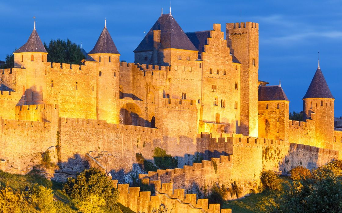 France Fortress Carcassonne Cities wallpaper
