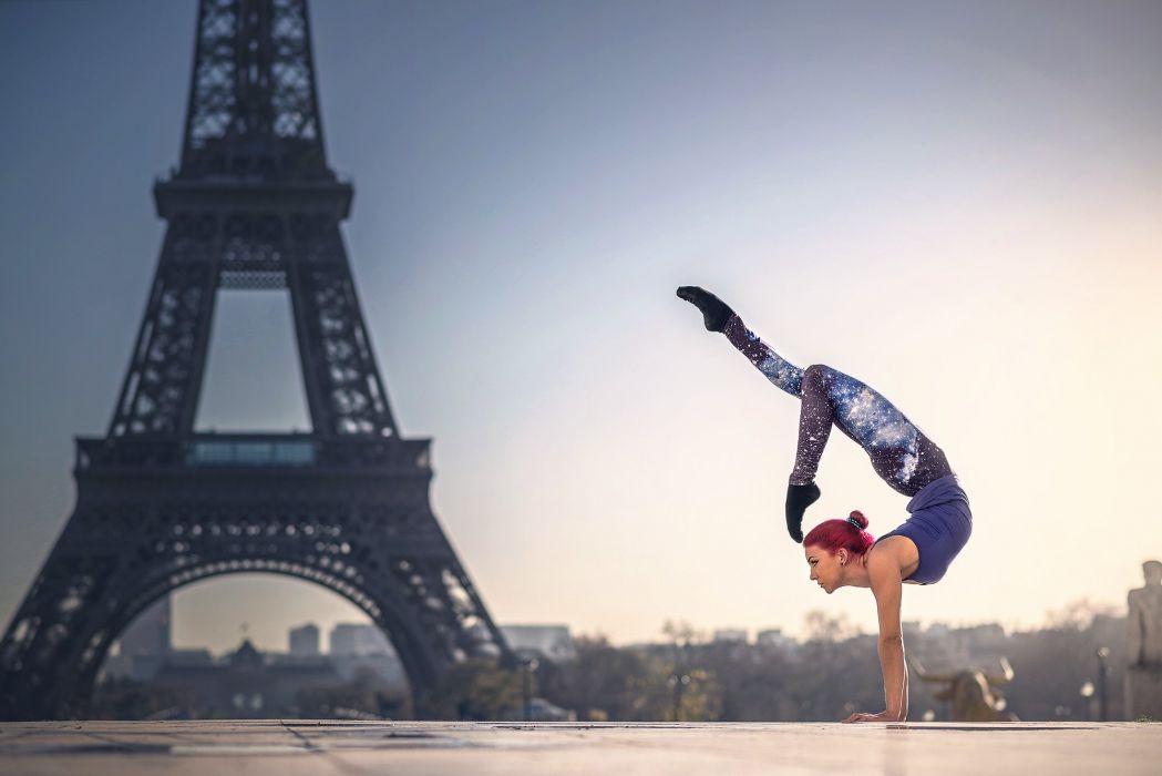 France Gymnastics Paris Eiffel Tower Quincy Azzario Cities Girls wallpaper