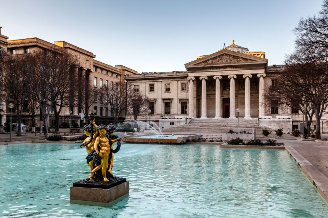 France Fountains Sculptures Palace Palace of Justice Marseilles Cities wallpaper