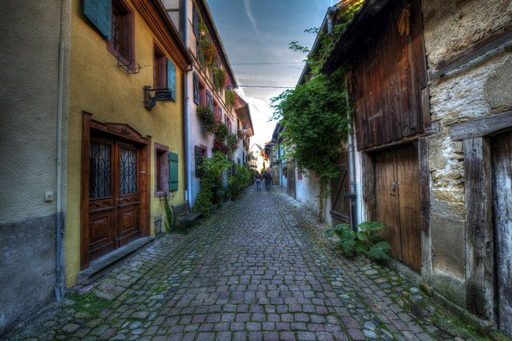 France Houses HDR Street Eguisheim Elsass Cities wallpaper