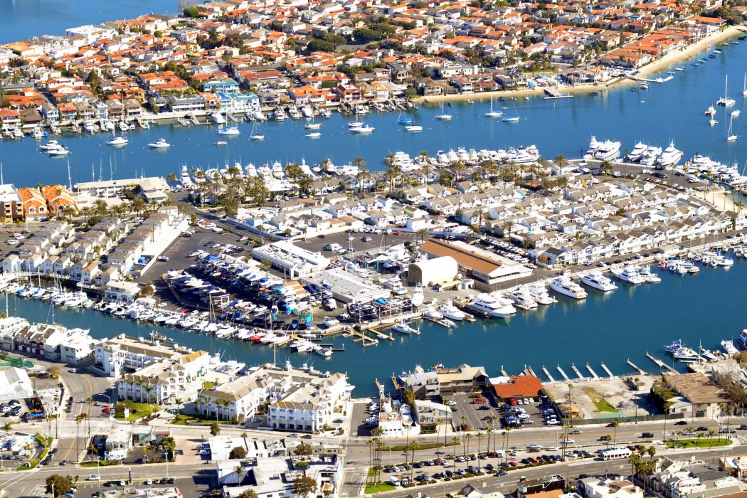 Houses Marinas Yacht USA From above Newport Beach Cities wallpaper