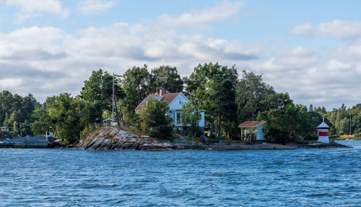 Houses Rivers Sky Sweden Stockholm Cities wallpaper