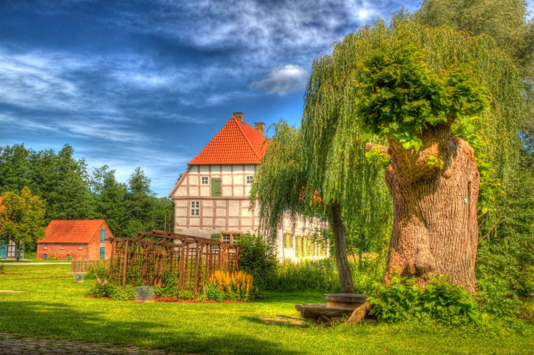 Houses Sky HDR Cities wallpaper