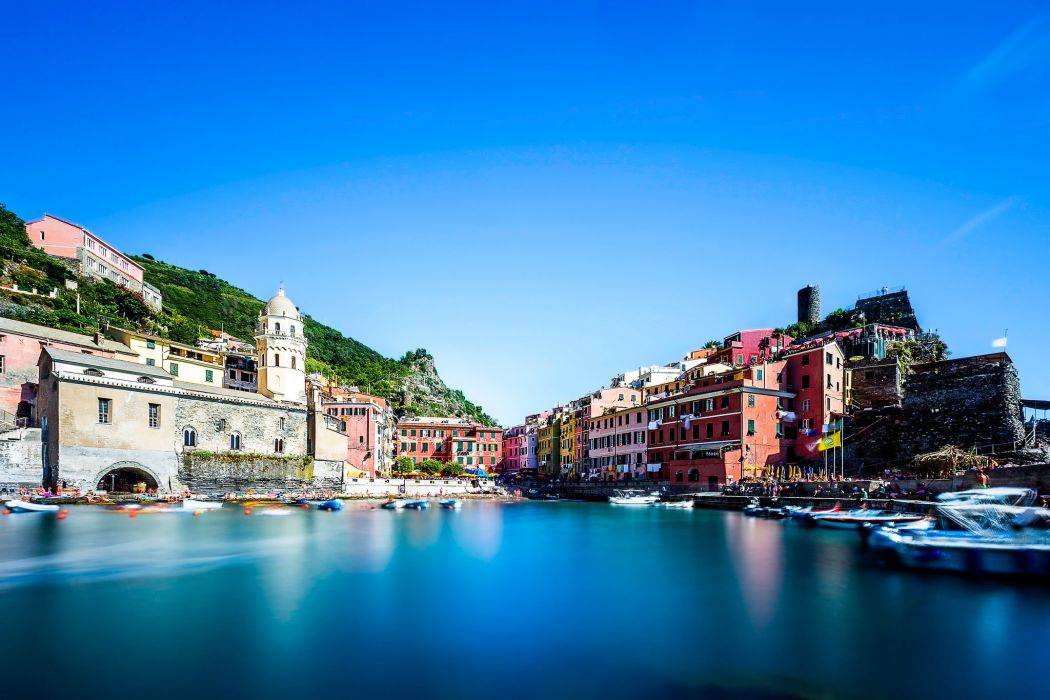 Houses Sky Italy Vernazza Cinque Terre Cities wallpaper