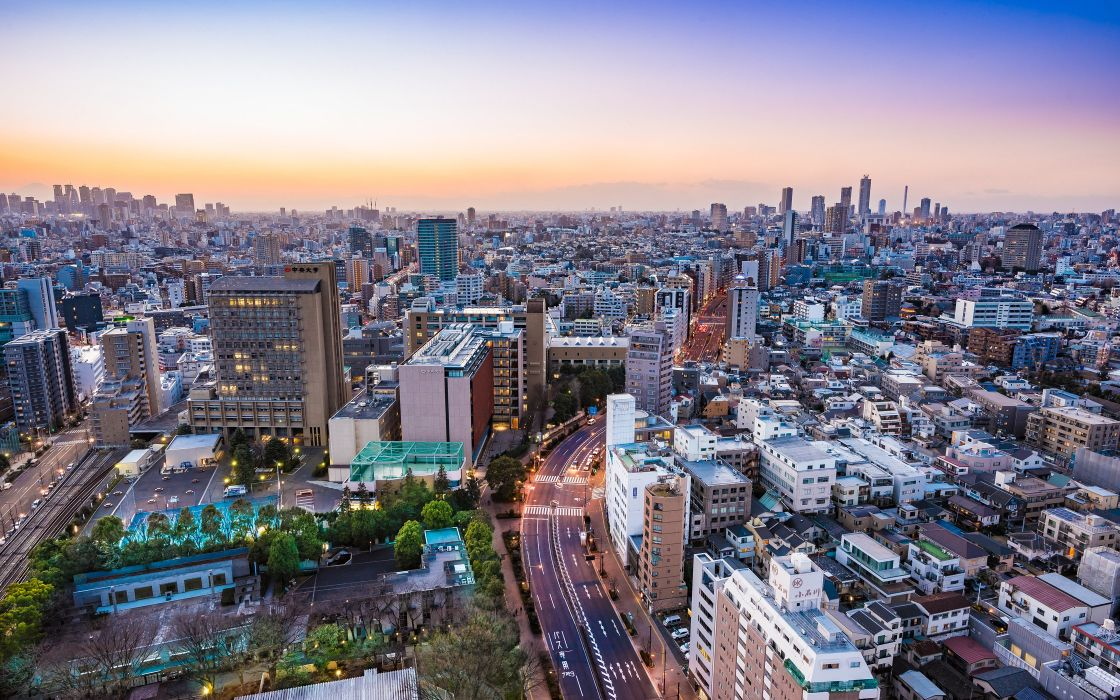 Houses Tokyo Japan From above Megapolis Cities wallpaper