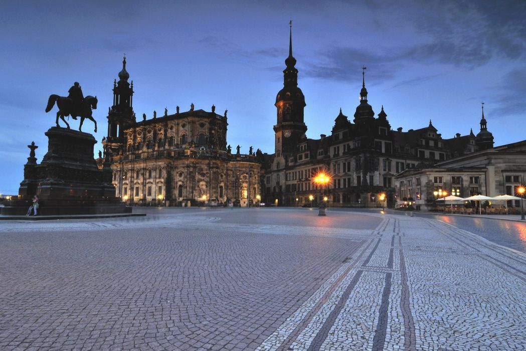 Germany Monuments Houses Dresden Street Cities wallpaper