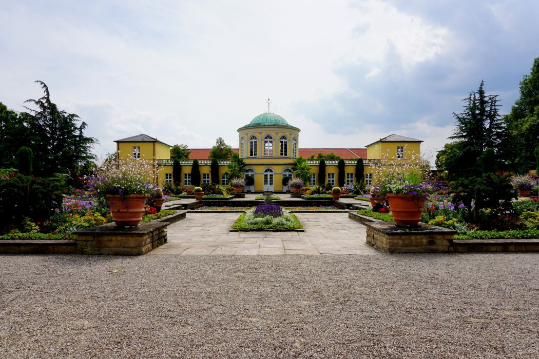 Germany Landscape Palace Hannover Herrenhausen Palace Cities wallpaper