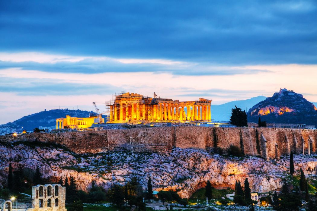 Greece Ruins Acropolis Cities wallpaper