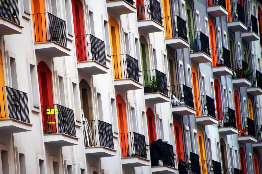 Houses Balcony Cities wallpaper