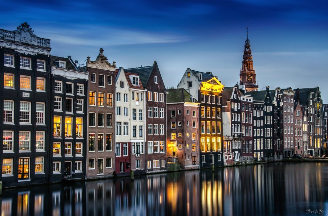 Houses Coast Netherlands Amsterdam Cities wallpaper