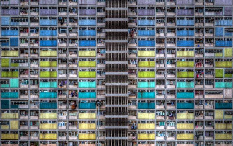 Houses Hong Kong China Window Cities wallpaper