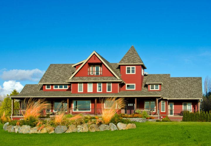 Houses Mansion Design Lawn Cities wallpaper
