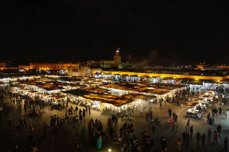 Morocco People Night Marrakesh Cities wallpaper