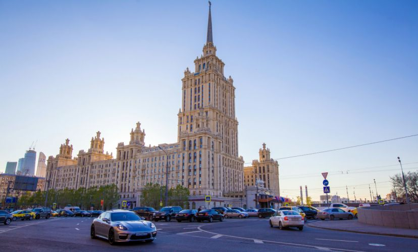 Moscow Russia Houses Hotel Street Radisson royal hotel Cities wallpaper