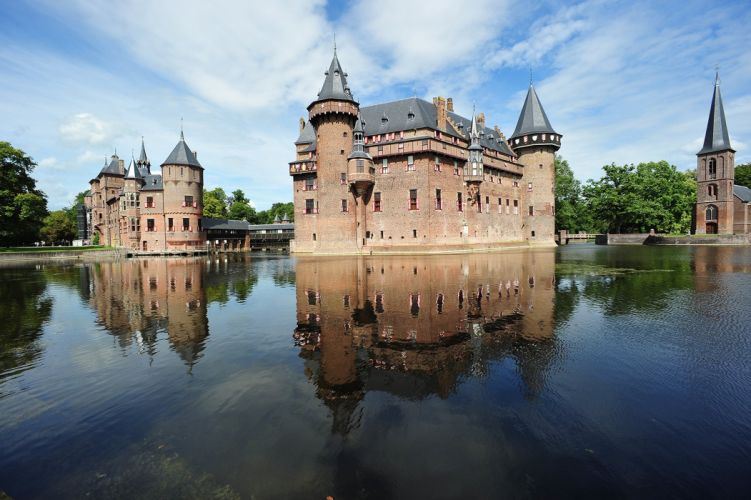 Netherlands Castles Rivers Kaastel de Haar Cities wallpaper