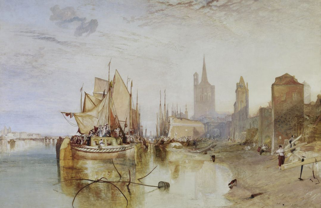 Pictorial art Ships William Turner Cities wallpaper
