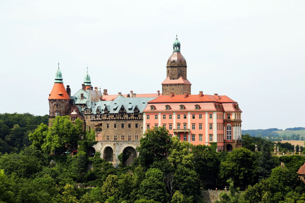 Poland Castle Walbrzych Cities wallpaper