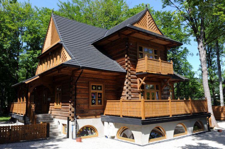 Poland Houses Design Mansion Zakopane Cities wallpaper