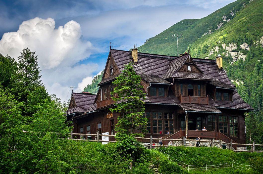 Poland Houses Mountains Zakopane Cities wallpaper
