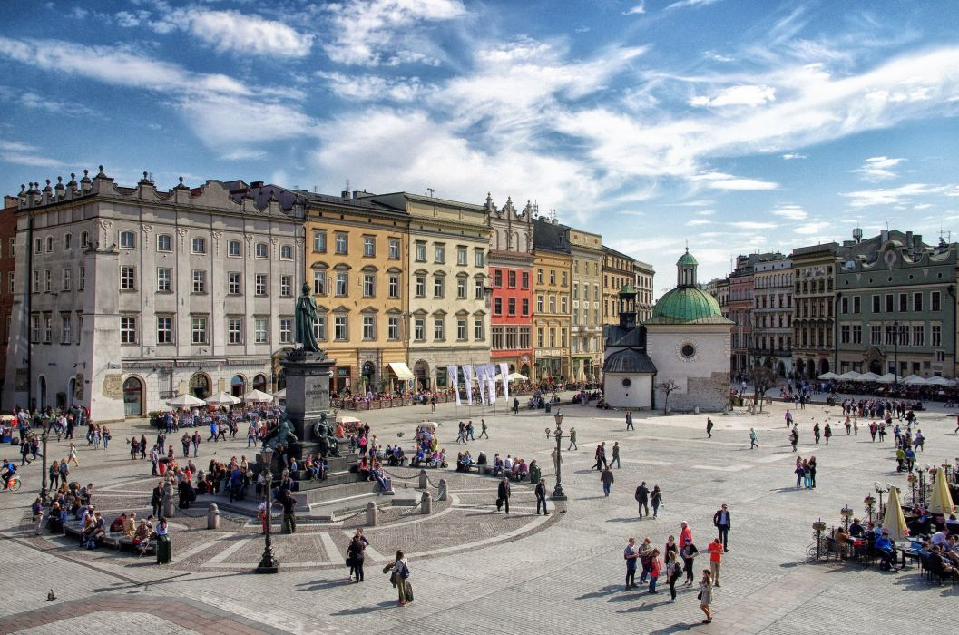 Poland Houses People Street Cities wallpaper