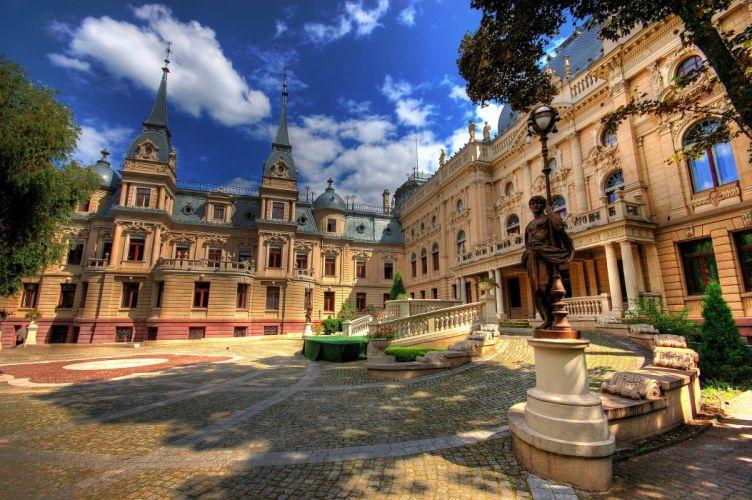 Poland Sculptures Palace Lodz Cities wallpaper