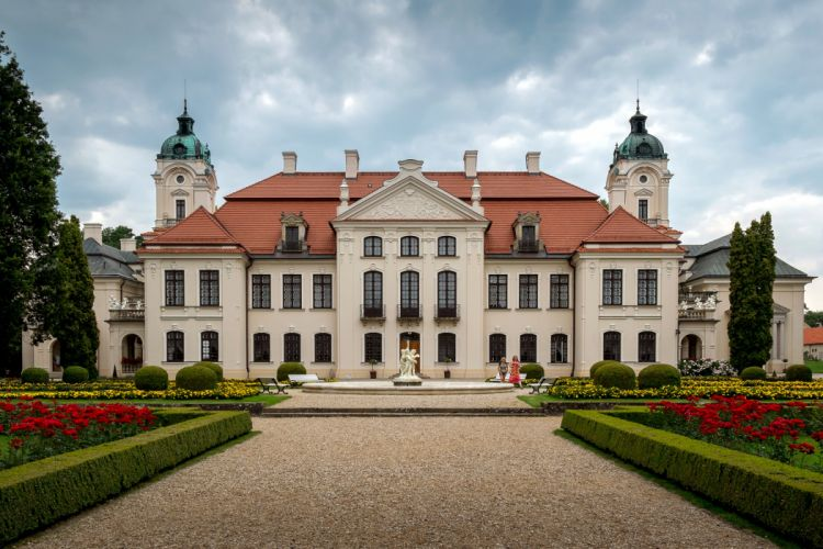 Poland Palace Shrubs Lublin Cities wallpaper