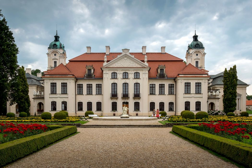 Poland Palace Shrubs Lublin Cities wallpaper