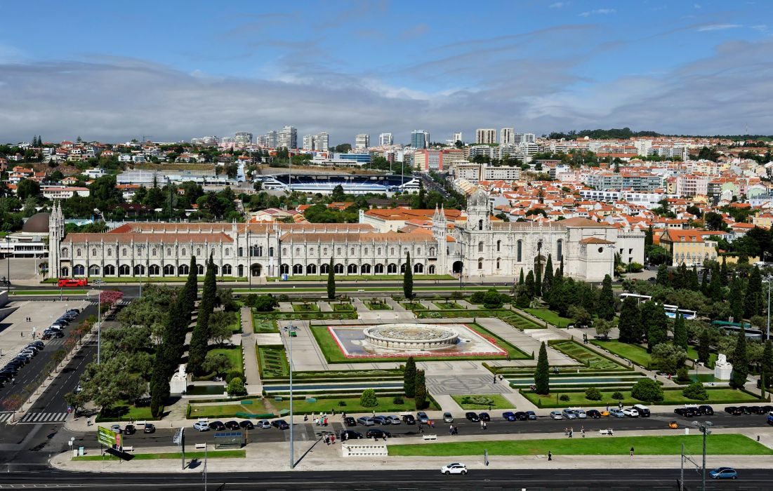 Portugal Houses Parks Lisbon Cities wallpaper