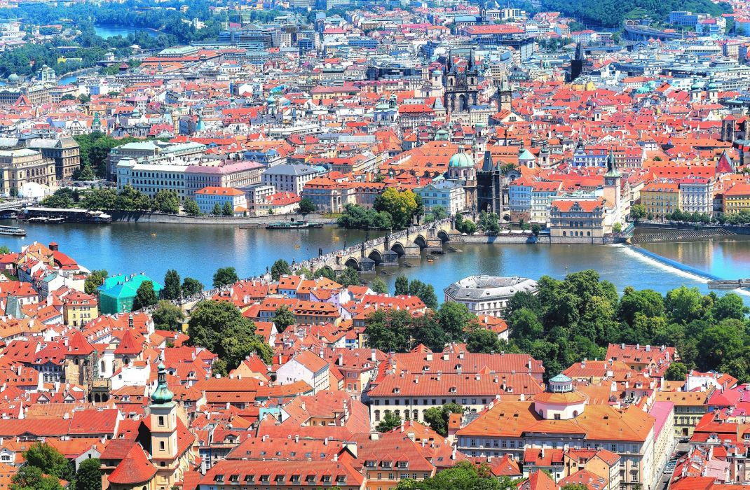 Prague Czech Republic Bridges Rivers Charles Bridge Vltava Cities wallpaper