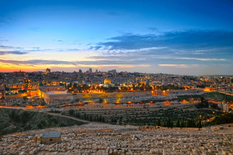 Israel Houses Sky HDR Night Jerusalem Cities wallpaper