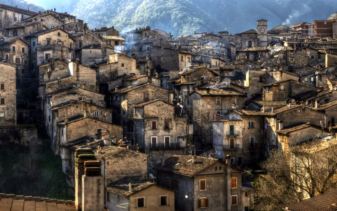 Italy Houses Scanno Cities wallpaper