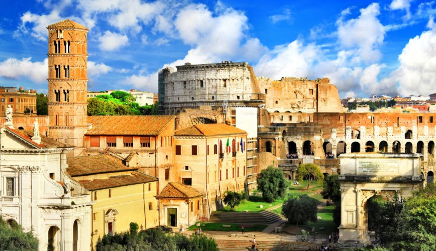 Italy Houses Ruins Rome Ancient Rome Cities wallpaper