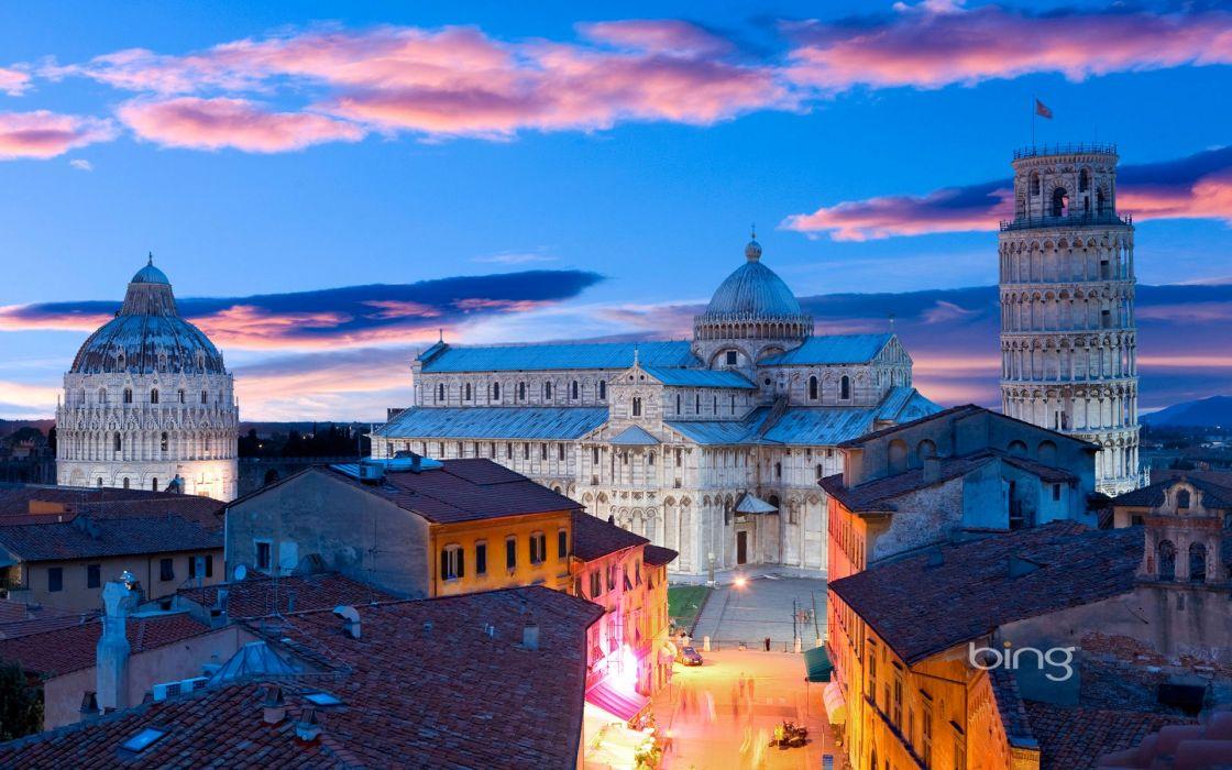 Italy Houses Street Pisa Cities wallpaper