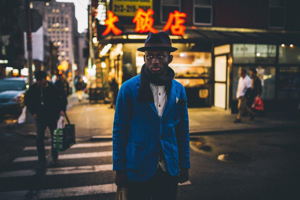 Men Negroid Street Hat Cities wallpaper
