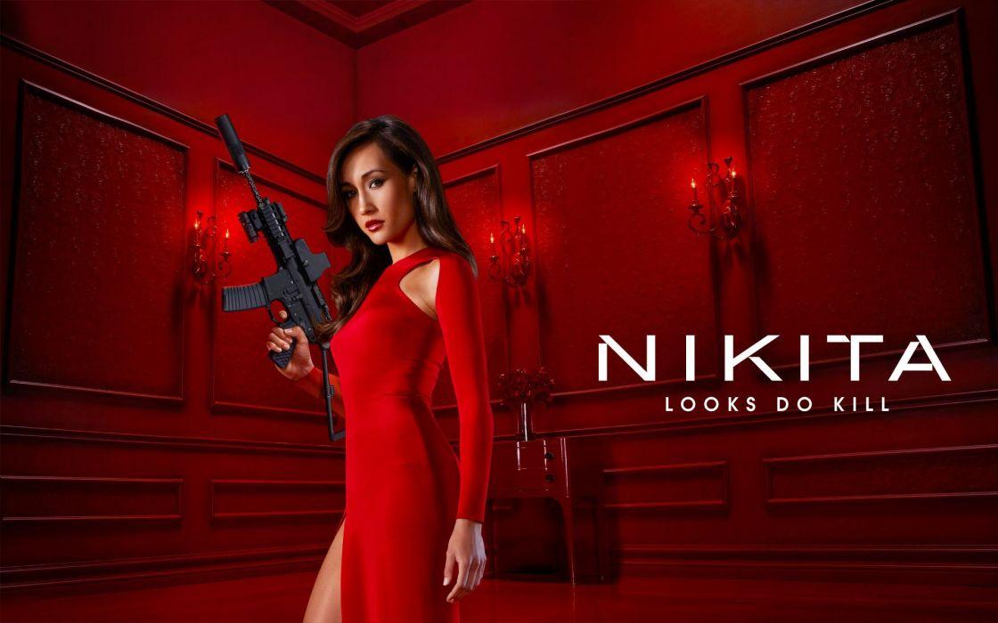 nikita looks do kill serie tv americana wallpaper