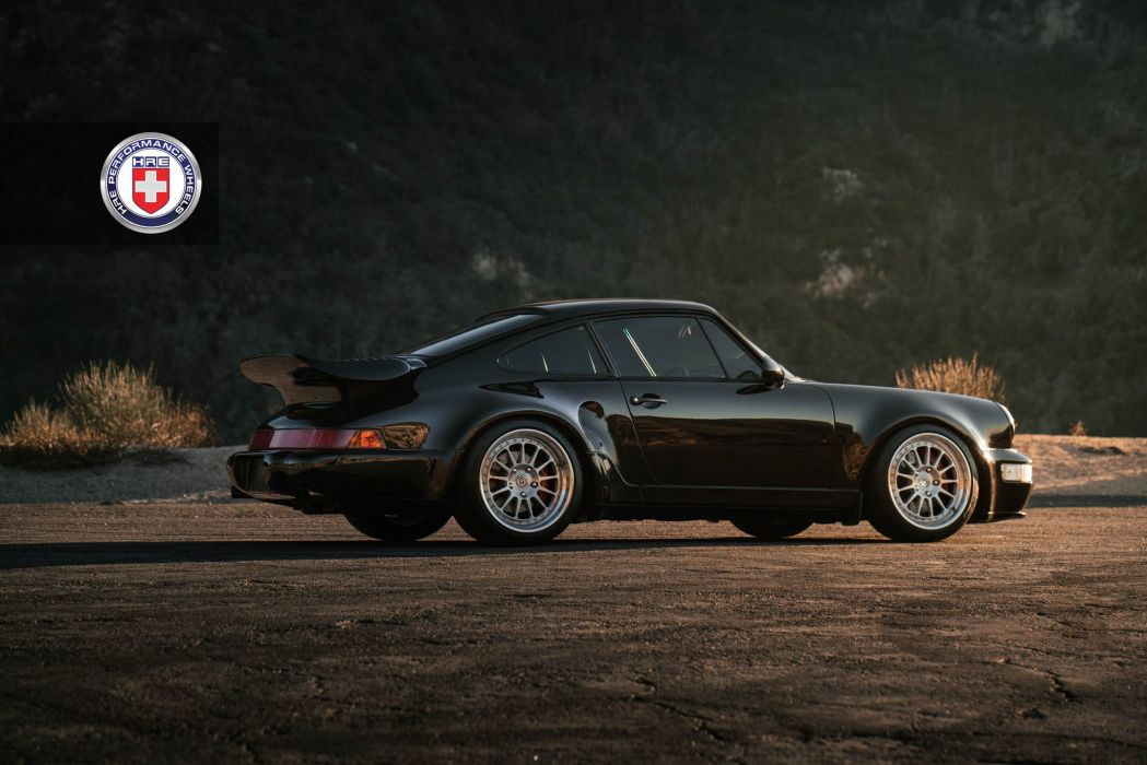 Porsche 964 Turbo HRE wheels cars black wallpaper