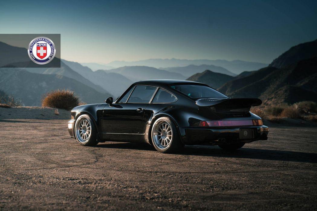 Porsche 964 Turbo Hre Wheels Cars Black Wallpaper