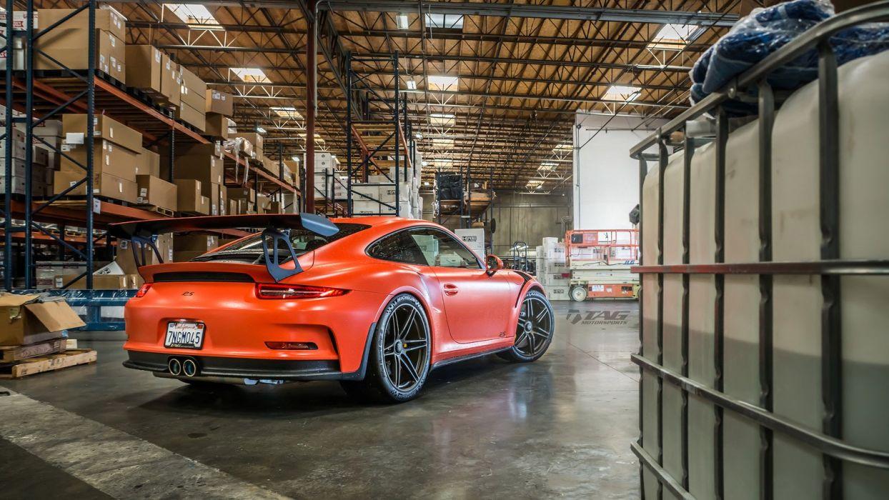 Porsche 991 GT3 RS HRE wheels cars orange wallpaper