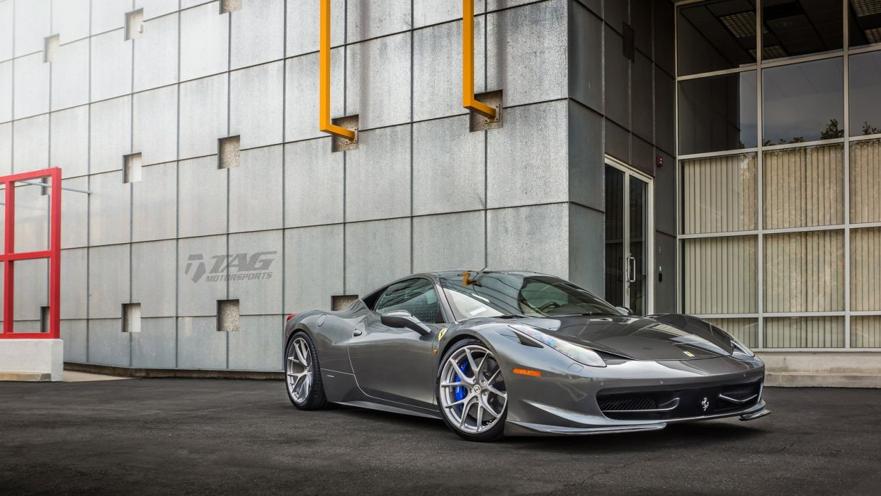 Ferrari 458 HRE wheels cars wallpaper