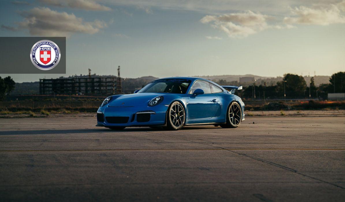 Porsche 991 GT3 HRE wheels blue wallpaper