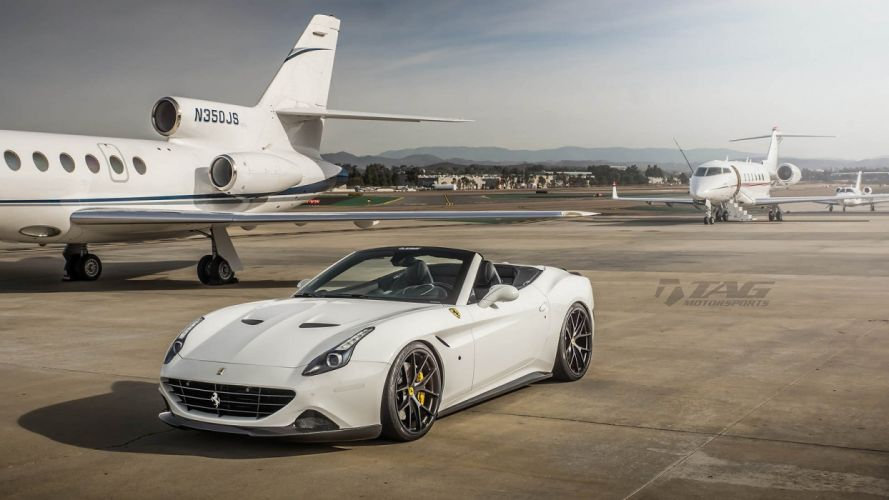 Ferrari California T HRE wheels white wallpaper