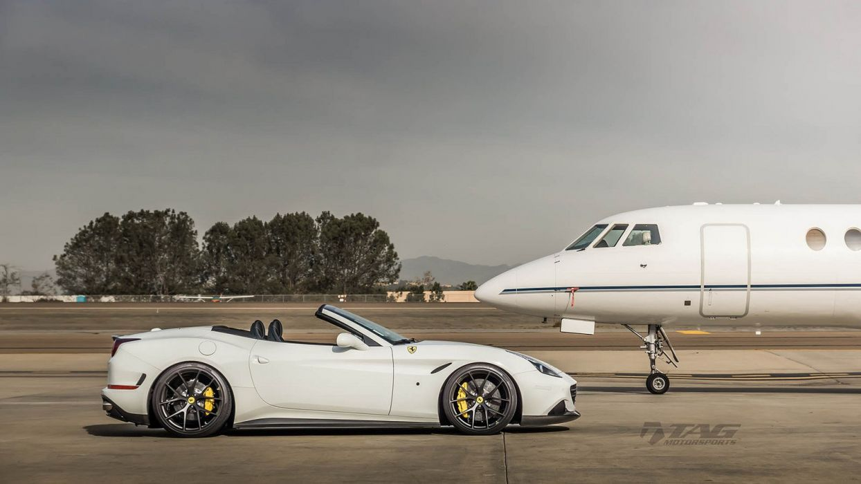 Ferrari California T HRE wheels white wallpaper