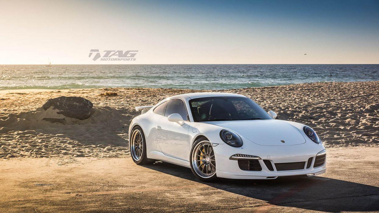 Porsche 991 S cars HRE wheels white wallpaper