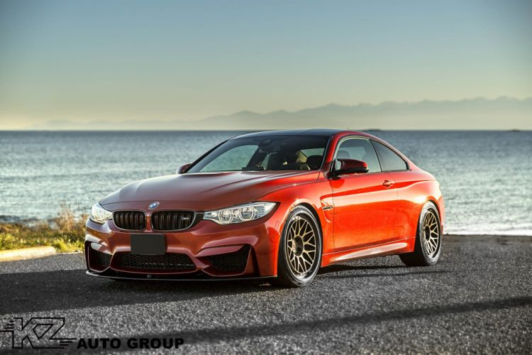 BMW M4 cars coupe red HRE wheels wallpaper
