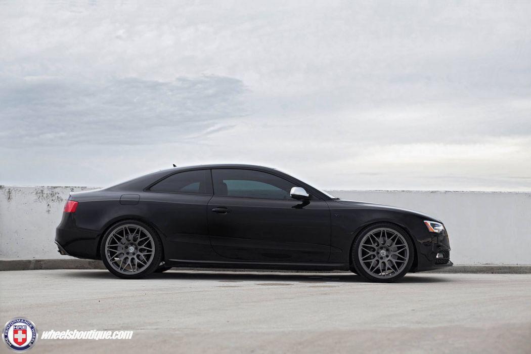 Audi S5 coupe black HRE wheels wallpaper