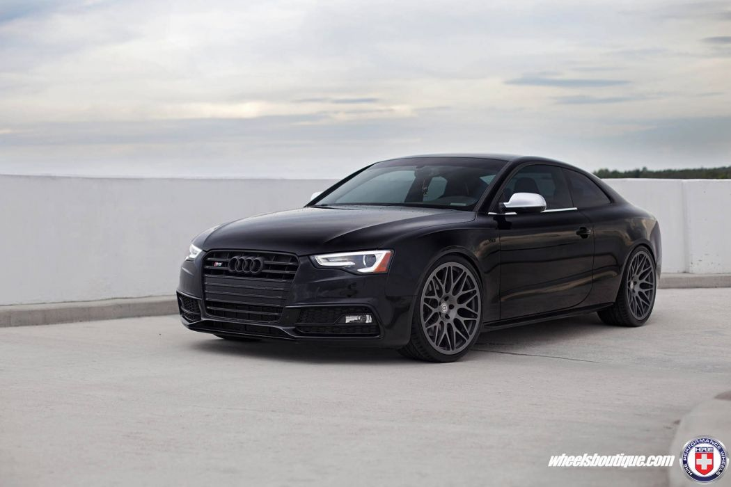 Audi S5 coupe black HRE wheels wallpaper