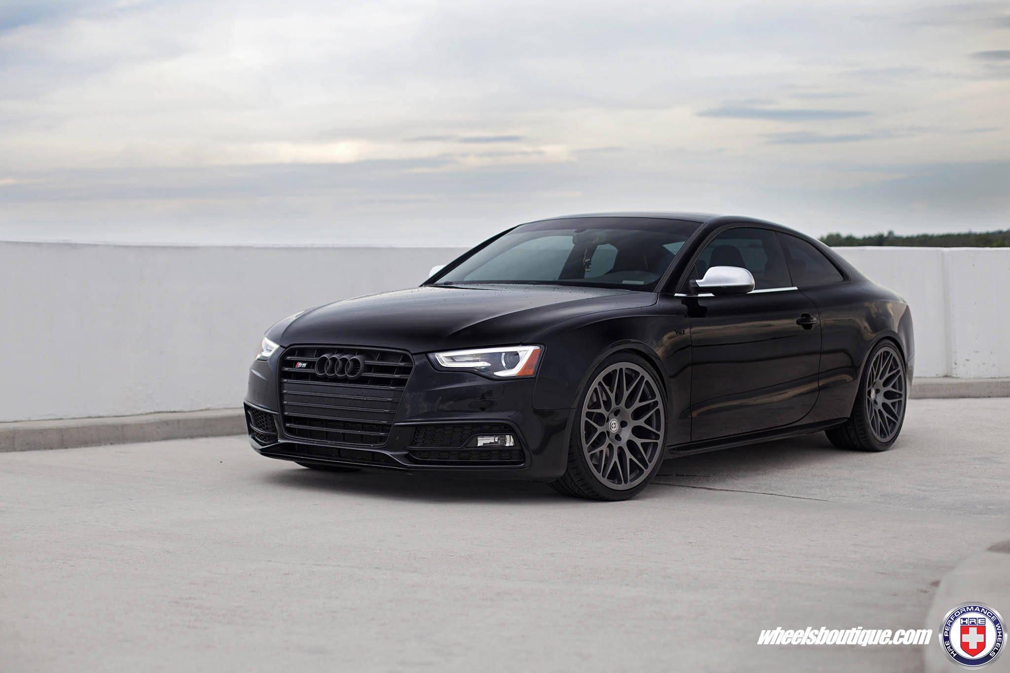 Audi S5 Coupe Black Hre Wheels Wallpaper 2048x1365