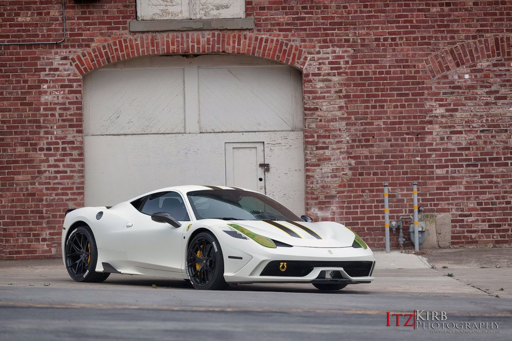 Ferrari 458 Speciale white HRE wheels wallpaper