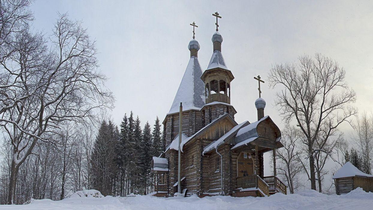 Nikulchino Church Orthodox Russia wallpaper